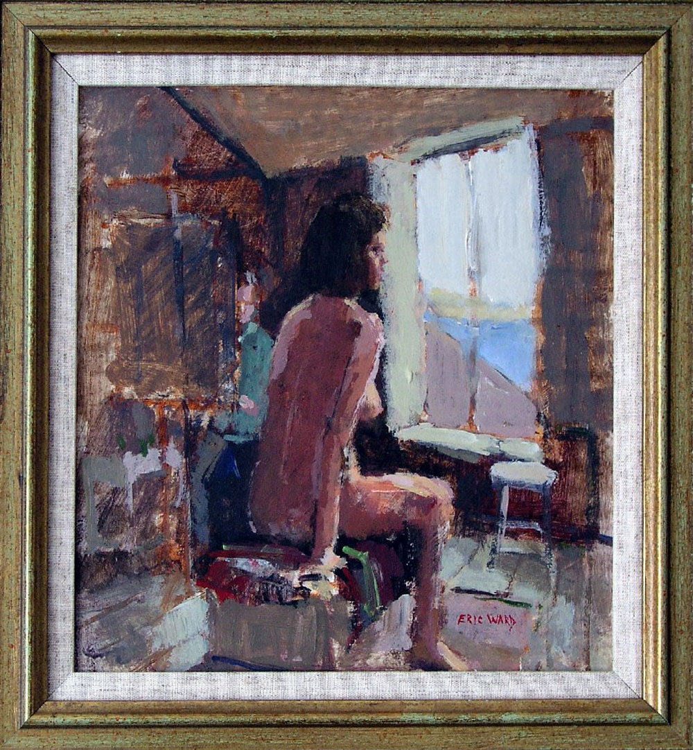 Nude model in studio (SOLD