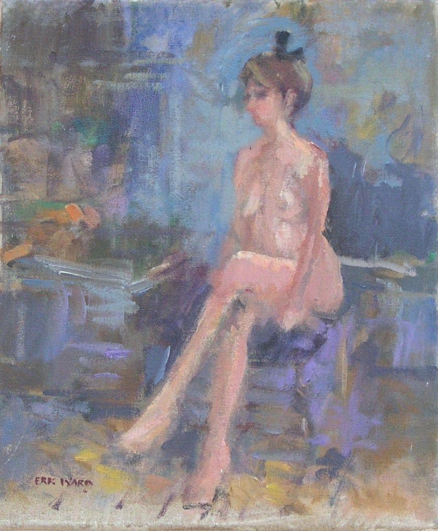 Seated Nude in Studio (Sold)