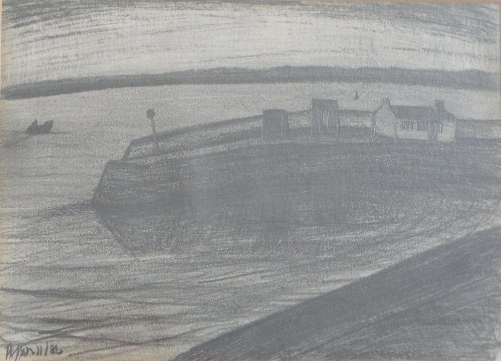 'Tresco Harbour' (signed and dated 1986) (SOLD)
