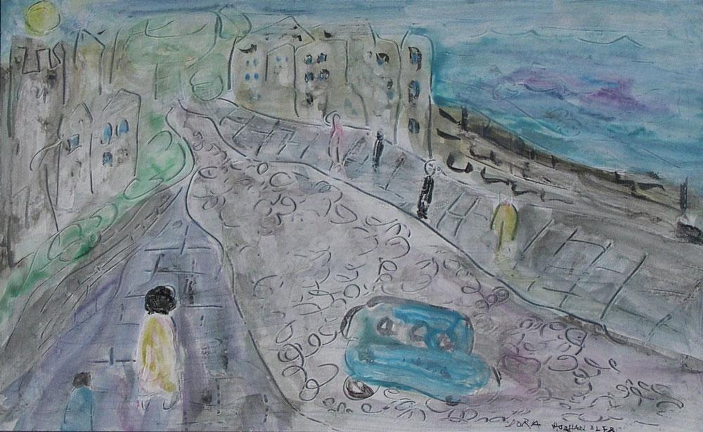 Dora Holzhandler - Castle Ruin by the Sea - £545