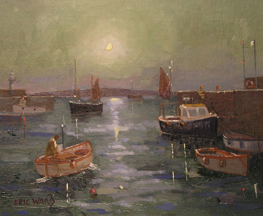 Eric Ward - Moon Light at St Ives Harbour - £390