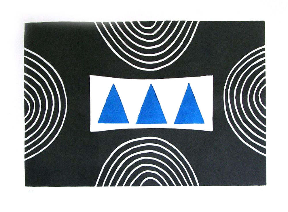 Three Blue Triangles (SOLD)