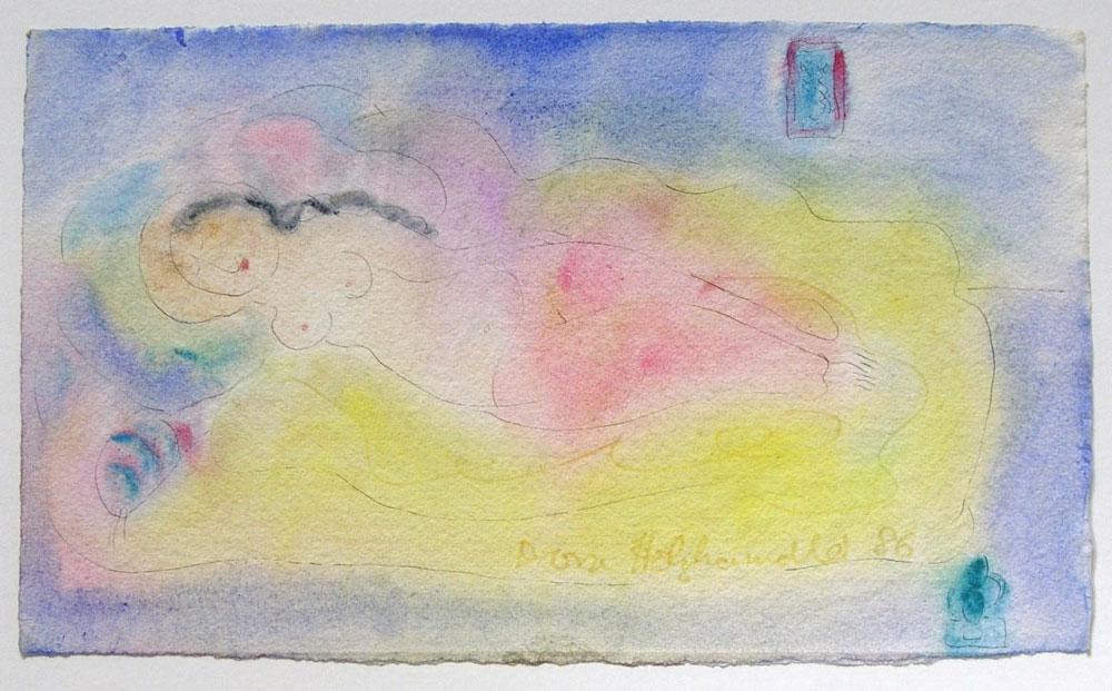 Dora Holzhandler - Reclining Nude - £625