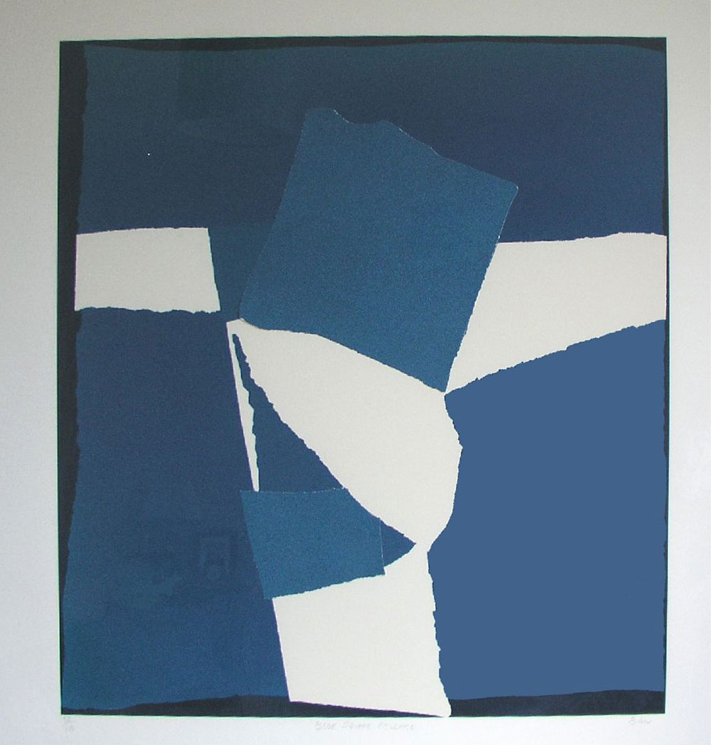 Blue Square Collage (SOLD)