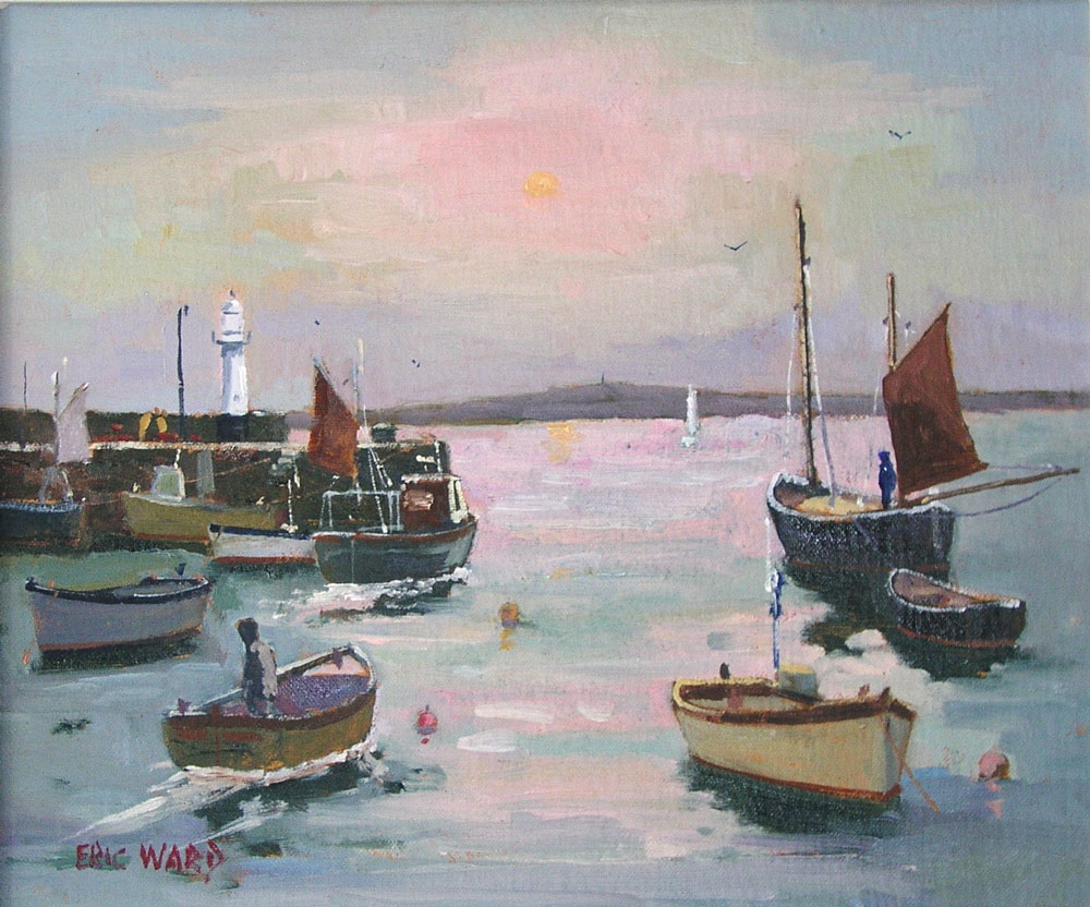 Eric Ward - Morning Sun at St Ives Harbour - £390